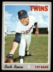 1970 Topps #404  Rich Reese  Front Thumbnail