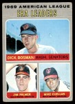 1970 Topps #68   -  Jim Palmer / Dick Bosman / Mike Cuellar AL ERA Leaders Front Thumbnail
