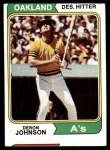 1974 Topps #312  Deron Johnson  Front Thumbnail