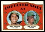 1972 Topps #268   -  Dwain Anderson / Chris Floethe A's Rookies Front Thumbnail