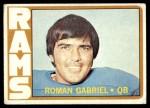1972 Topps #40  Roman Gabriel  Front Thumbnail