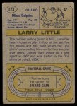 1974 Topps #123   -  Larry Little All-Pro Back Thumbnail