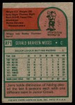 1975 Topps #271  Jerry Moses  Back Thumbnail