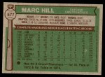 1976 Topps #577  Marc Hill  Back Thumbnail
