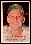 1957 Topps #258  Steve Gromek  Front Thumbnail