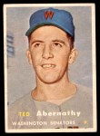 1957 Topps #293  Ted Abernathy  Front Thumbnail
