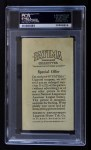 1913 T200 Fatima #6   Philadelphia Nationals Back Thumbnail
