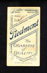 1909 T206  John Anderson  Back Thumbnail