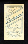 1909 T206  Paddy Livingston  Back Thumbnail