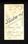 1909 T206  Pryor McElveen  Back Thumbnail
