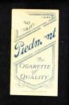 1909 T206  Bill Clymer  Back Thumbnail