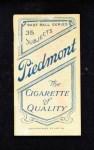 1909 T206  Billy Gilbert  Back Thumbnail