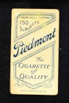 1909 T206 BAT Red Kleinow  Back Thumbnail
