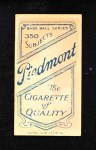 1909 T206  Bill Carrigan  Back Thumbnail