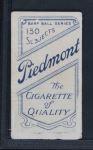 1909 T206 POR George Stovall  Back Thumbnail