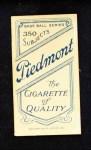 1909 T206  Charlie Starr  Back Thumbnail