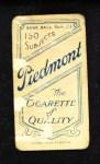 1909 T206 FRT Frank Smith  Back Thumbnail