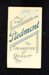 1909 T206 BAT Bill Bergen  Back Thumbnail