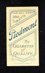 1909 T206  Heinie Zimmerman  Back Thumbnail