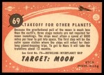 1957 Topps Target Moon #69   Takeoff for Other Planets Back Thumbnail