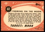 1957 Topps Target Moon #61   Farming on the Moon Back Thumbnail