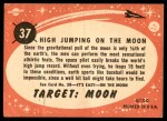 1957 Topps Target Moon #37   High Jumping on the Moon Back Thumbnail