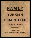 1909 T204 Ramly  Dick Hoblitzell  Back Thumbnail
