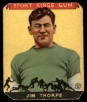 1933 Goudey Sport Kings #6  Jim Thorpe   Front Thumbnail