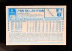 1974 Kellogg's #8  Nolan Ryan  Back Thumbnail