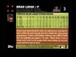 2007 Topps #3  Brad Lidge  Back Thumbnail