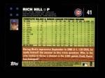 2007 Topps #41  Rich Hill  Back Thumbnail