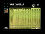 2007 Topps #53  Mike Piazza  Back Thumbnail