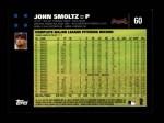 2007 Topps #60  John Smoltz  Back Thumbnail