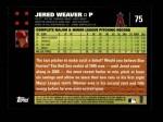 2007 Topps #75  Jered Weaver  Back Thumbnail