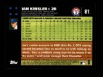 2007 Topps #81  Ian Kinsler  Back Thumbnail