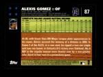 2007 Topps #87  Alexis Gomez  Back Thumbnail