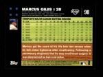 2007 Topps #98  Marcus Giles  Back Thumbnail