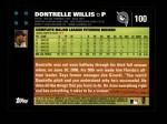 2007 Topps #100  Dontrelle Willis  Back Thumbnail