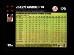 2007 Topps #120  Jason Giambi  Back Thumbnail