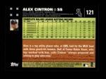 2007 Topps #121  Alex Cintron  Back Thumbnail