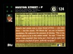 2007 Topps #124  Huston Street  Back Thumbnail
