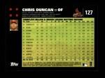 2007 Topps #127  Chris Duncan  Back Thumbnail