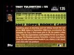 2007 Topps #135  Troy Tulowitzki  Back Thumbnail