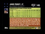 2007 Topps #145  Jake Peavy  Back Thumbnail