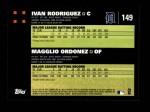 2007 Topps #149   -  Magglio Ordonez / Ivan Rodriguez Classic Combo Back Thumbnail