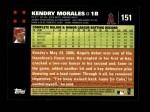 2007 Topps #151  Kendry Morales  Back Thumbnail