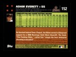 2007 Topps #152  Adam Everett  Back Thumbnail