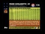 2007 Topps #174  Frank Catalanotto  Back Thumbnail