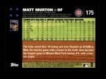 2007 Topps #175  Matt Murton  Back Thumbnail