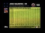 2007 Topps #183  Jose Valentin  Back Thumbnail